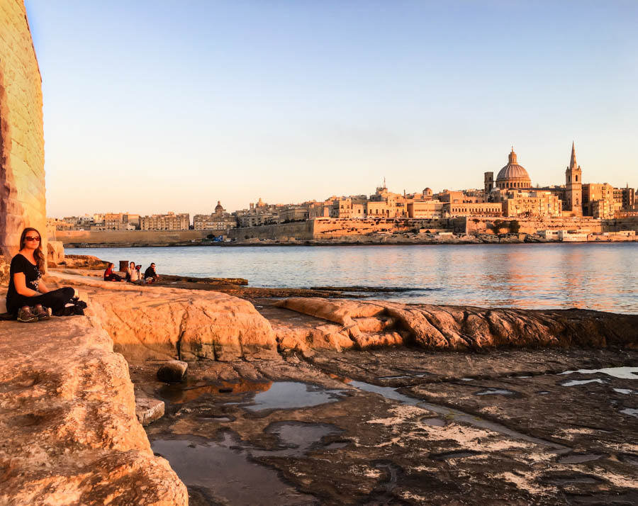 living in malta as a digital nomad sunset