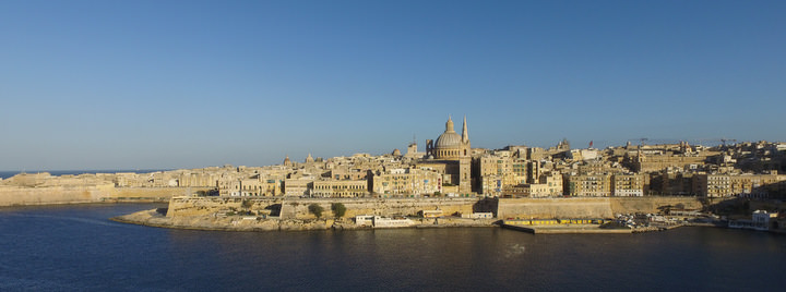 living in malta as a digital nomad valletta view