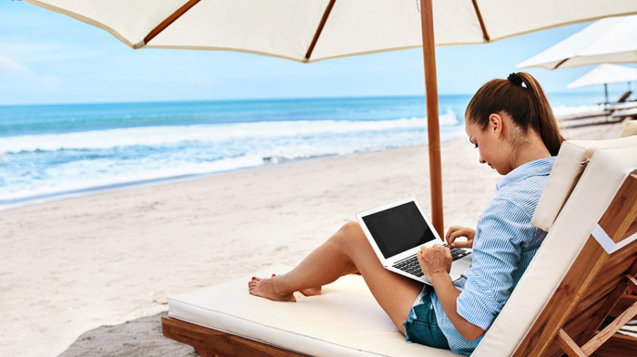 digital nomad tools sun lounger