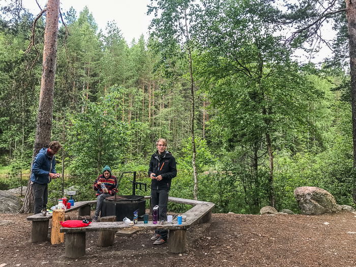 Camping in Repovesi National Park Finland
