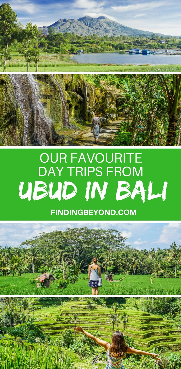 Check out 8 of our favourite amazing and wonderful day trips from Ubud in Bali. From cascading waterfalls to mountain peaks, it's all here.