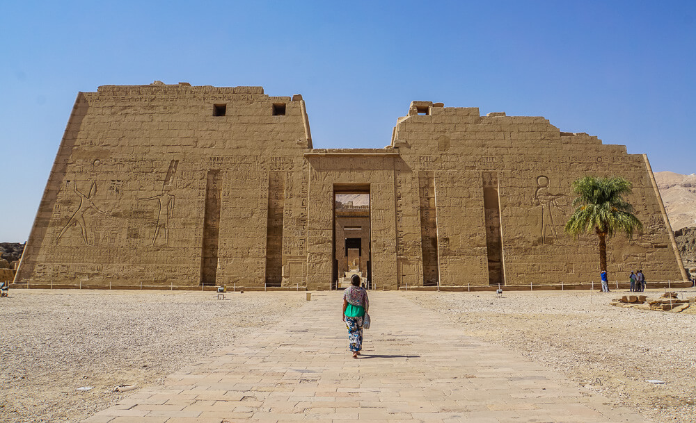 Luxor West Bank Medinet Habu Temple