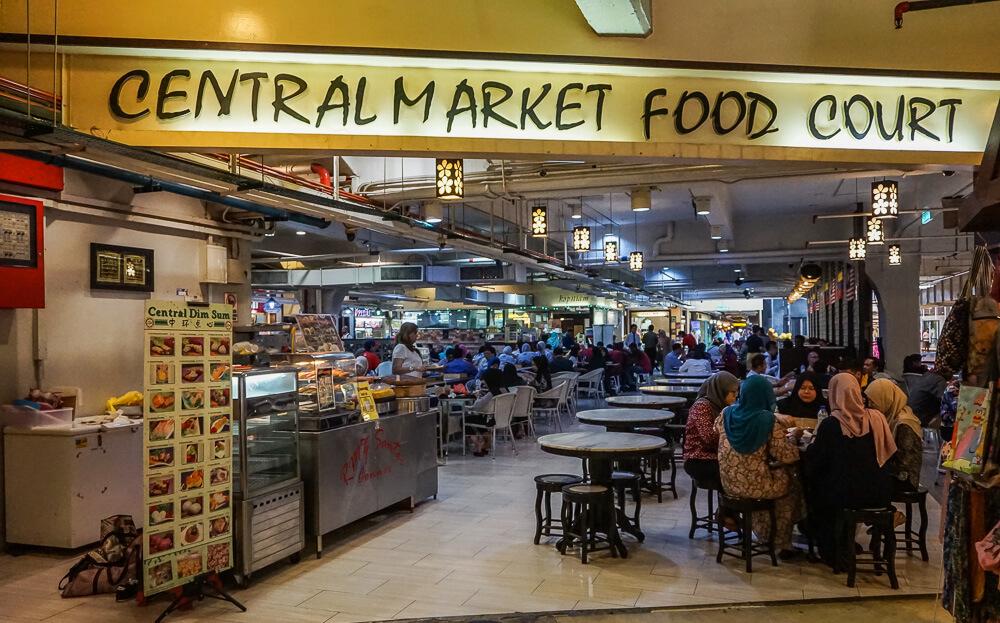 chinatown kuala lumpur central market food court