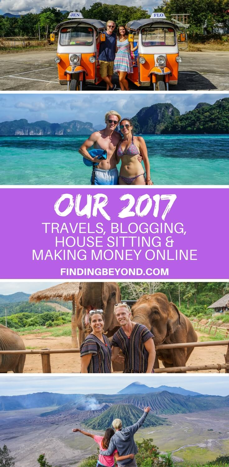 Let's look back at our 2017 - the countries we travelled, our travel blogging journey and the year we started earning money online to sustain our digital nomad lifestyle.