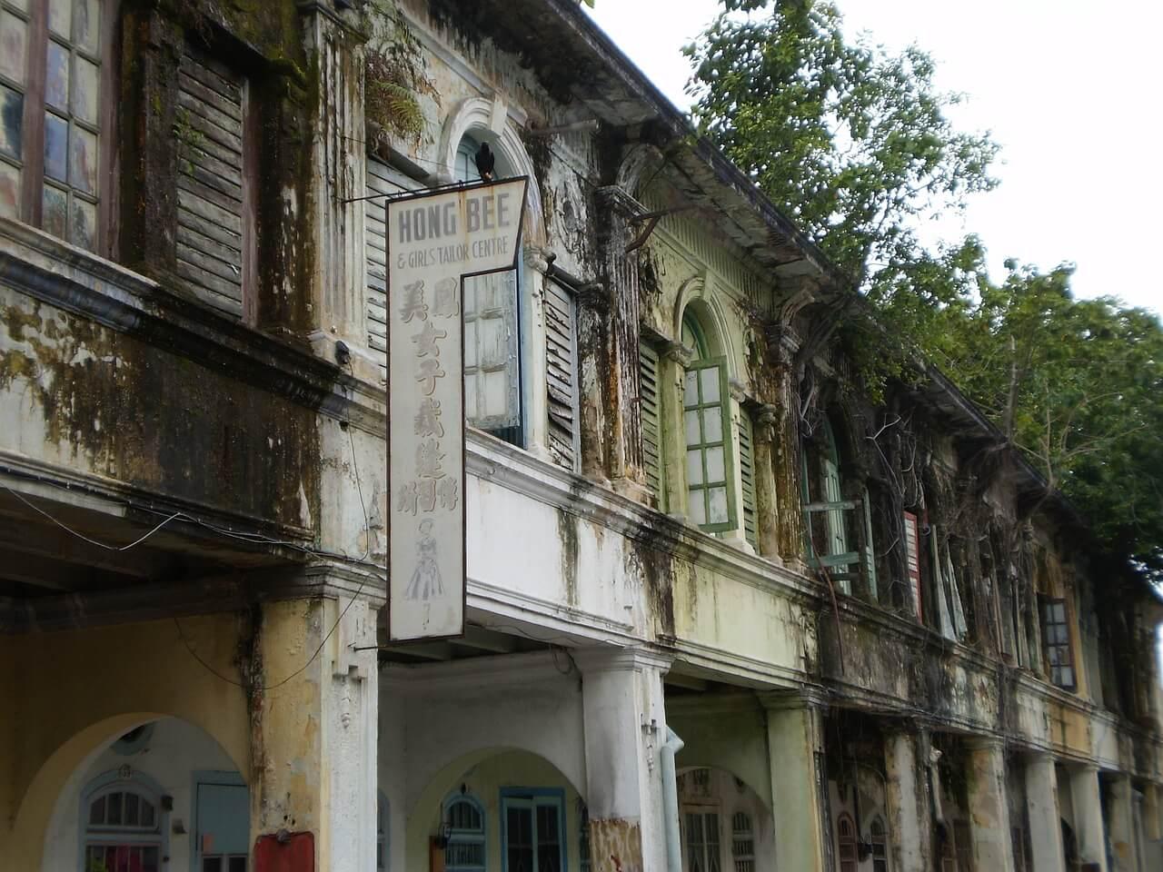 melaka old town colonial houses