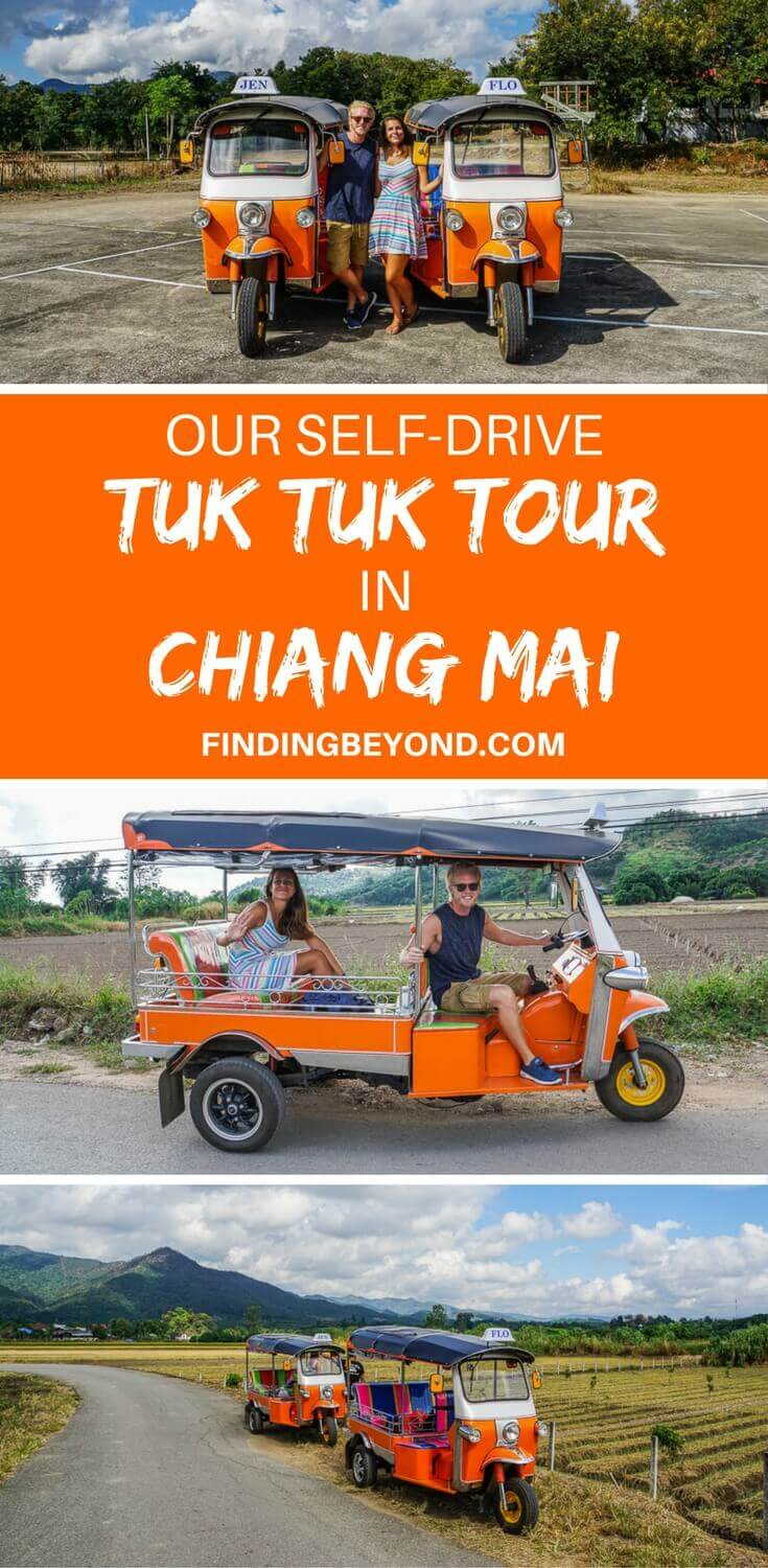 Have you ever wanted to drive a tuk tuk in Thailand? Read about our one-day self drive tuk tuk tour in Chiang Mai's stunning countryside.