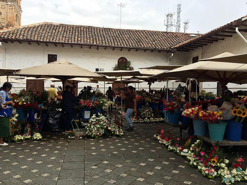 Cuenca-Ecuador-Flower-Market