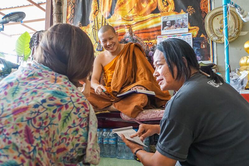 discussing my sak yant tattoo chiang mai
