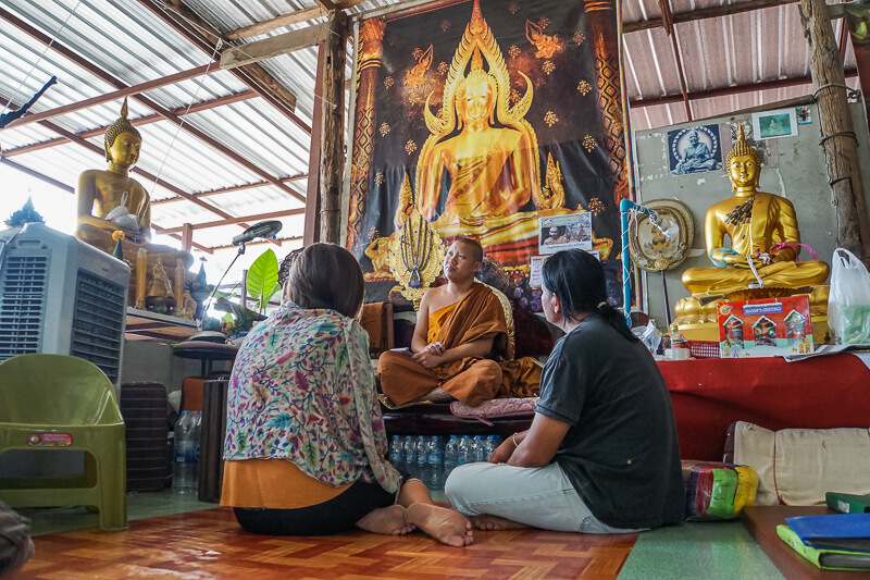 talking with ajarn rung in chiang mai