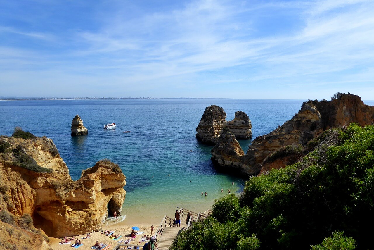 best towns in algarve lagos-beach