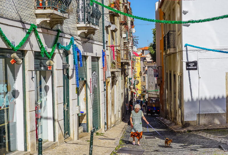 lisbon alfama streets portugal