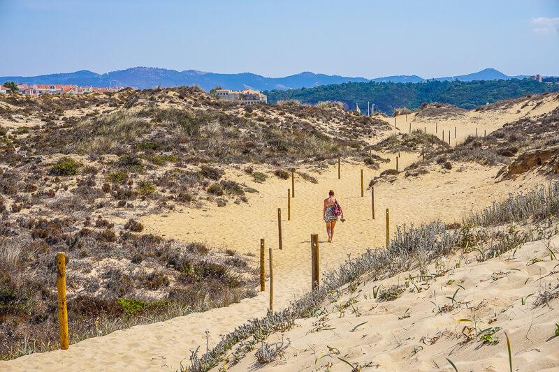 villa nova de milfontes sand dunes portugal