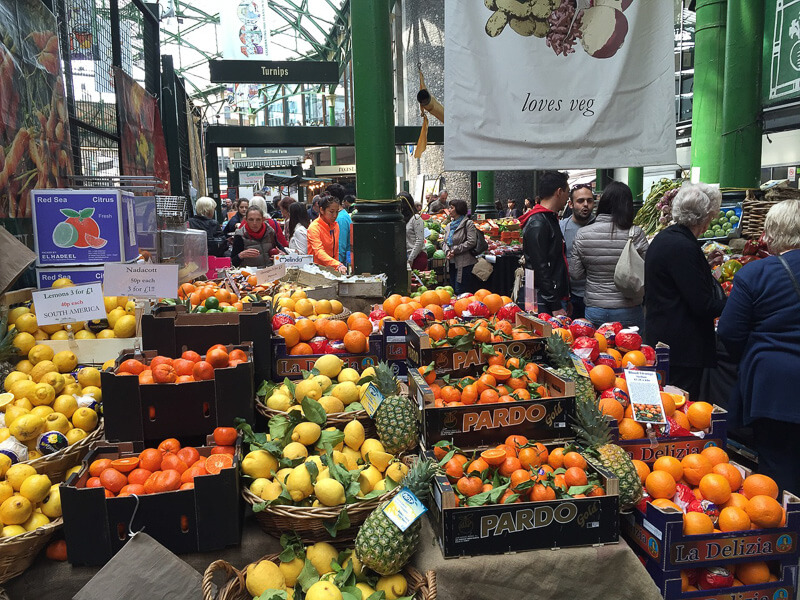 fruit stall borough market london