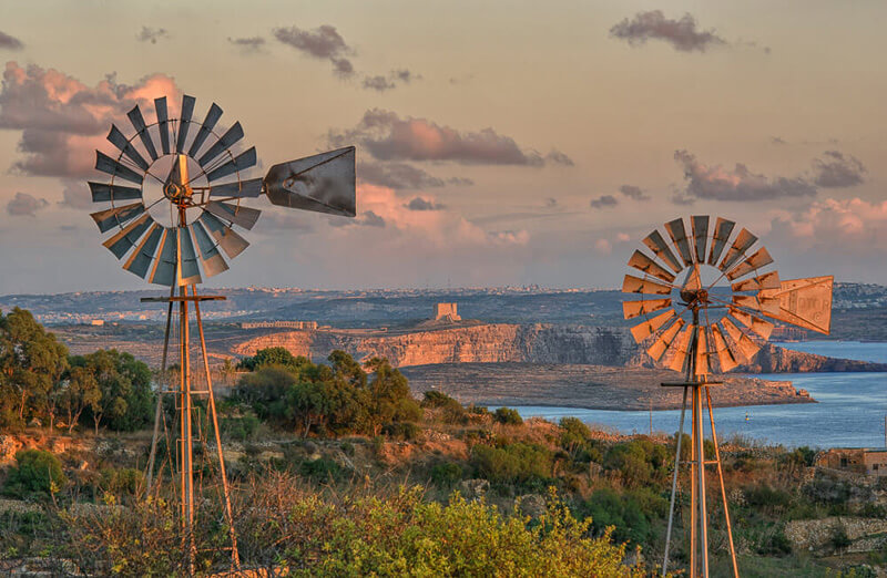 Gozo with Malta in the background
