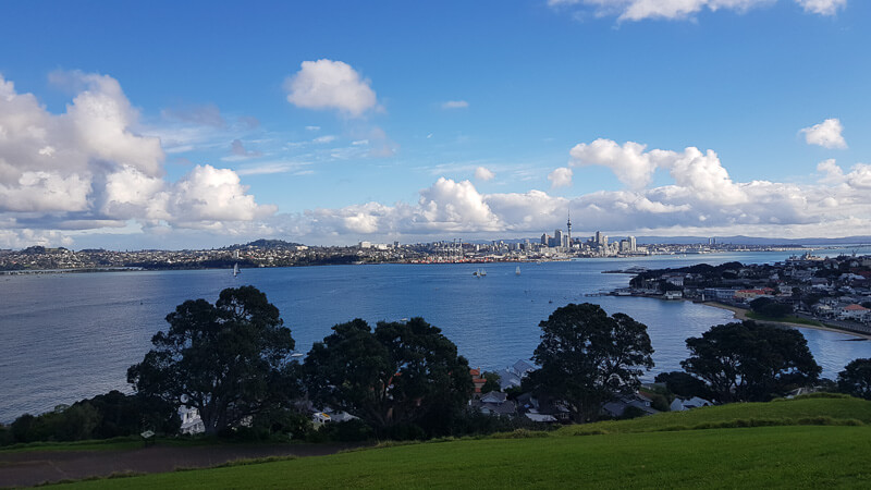 48 hours in auckland city skyline view from north head