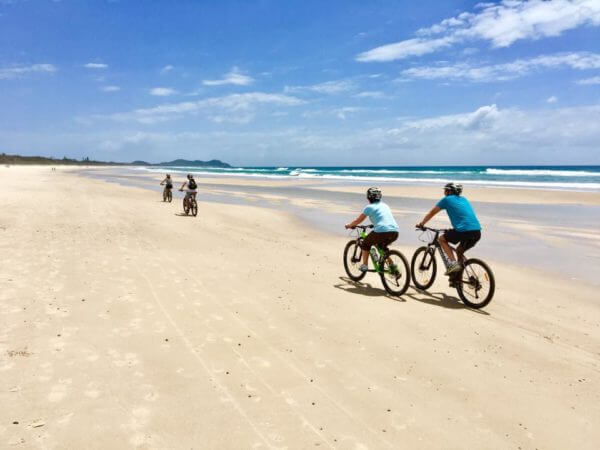byron bay beach bike ride