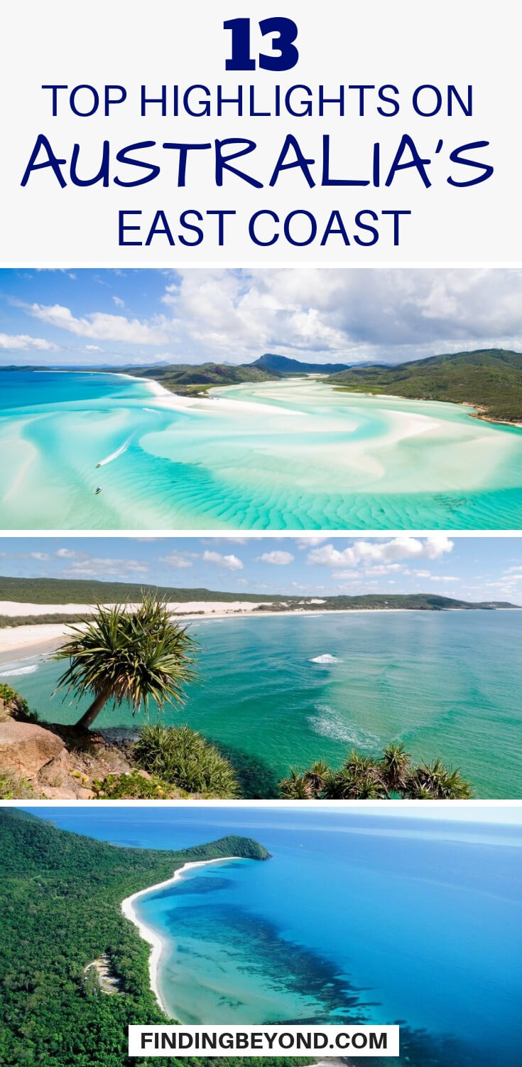 If you're touring Australia's diverse east coast then check out this list of the coastline's top highlights to suit every kind of traveller.