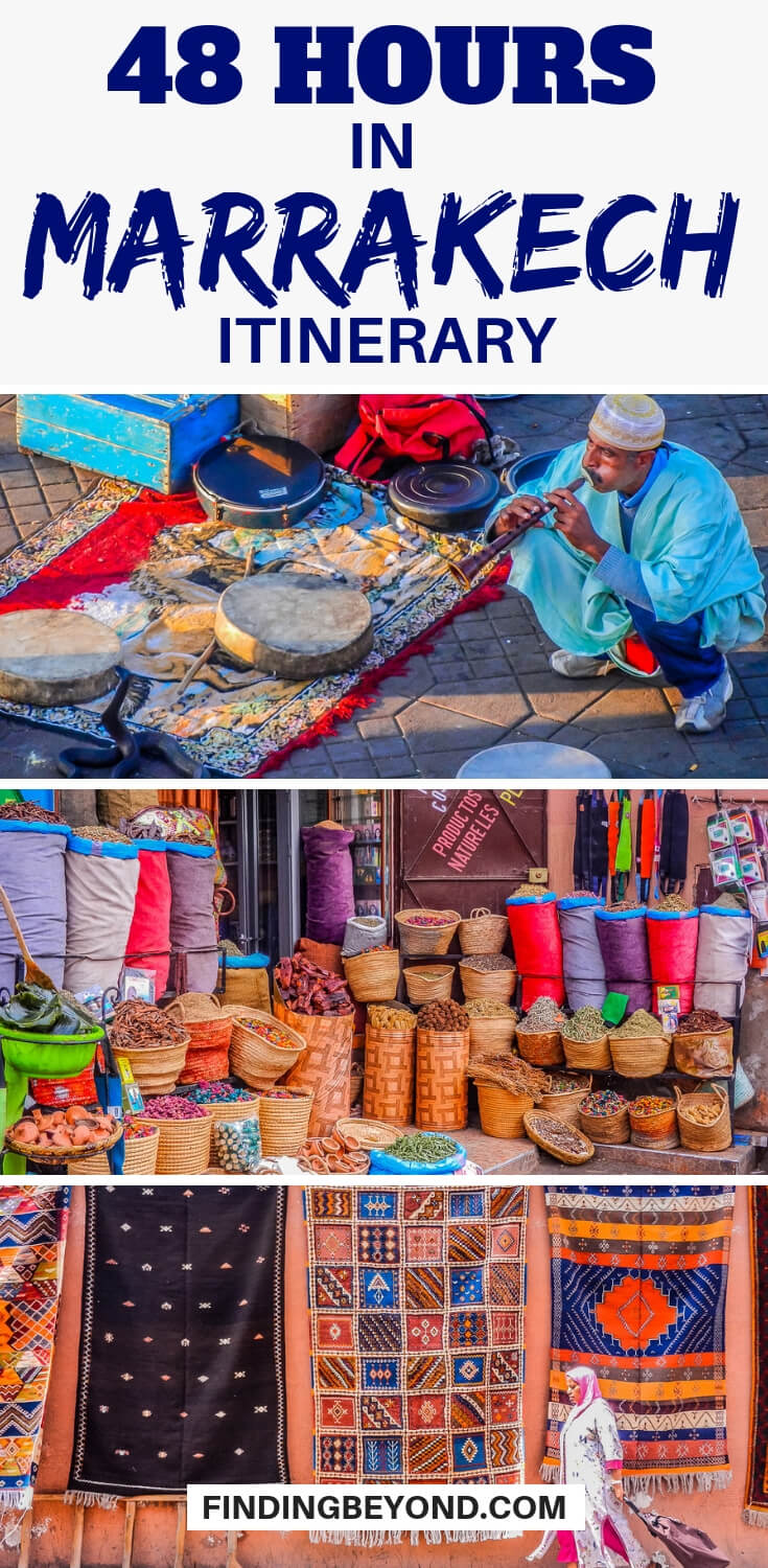 Do you have only 48 hours in Marrakech? There's a lot to see but by following our 2 days in Marrakech itinerary you'll see all the highlights and more!