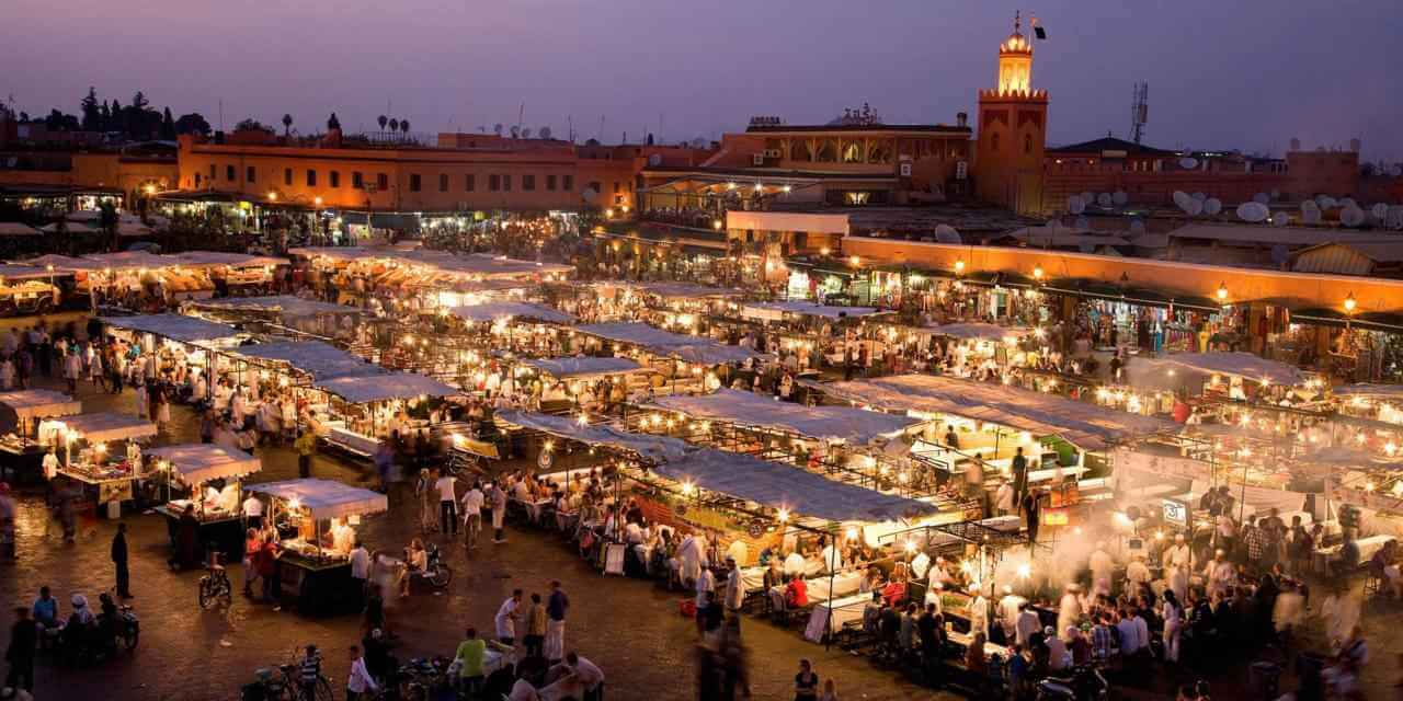 Jemaa el fina at night
