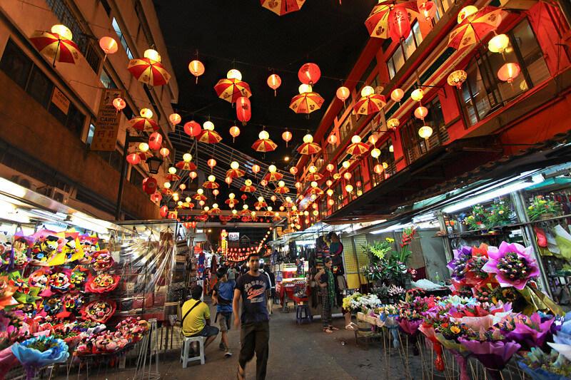 Kuala Lumpur Chinatown Petaling Street Night