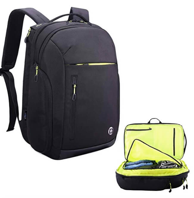 Swissdigital Extra Large Travel Water-Resistant Backpack