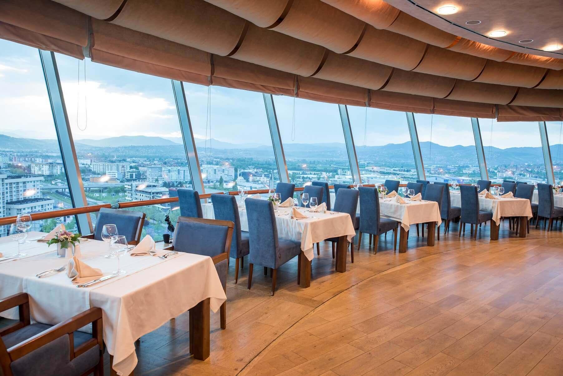 Sarajevo rotating restaurant