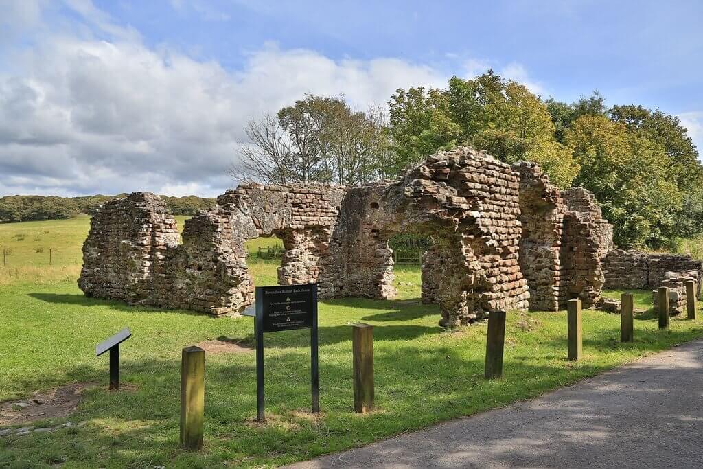 Walls Castle roman baths